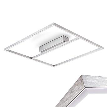Deckenlampe Energiespar Deckenleuchte Silber Eckig
