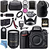 Nikon D750 DSLR Camera 1543 + Nikon AF-S NIKKOR 28-300mm ED VR Lens + 77mm 3 Piece Filter Kit + EN-EL15 Lithium Ion Battery + External Rapid Charger + Sony 128GB SDXC Card Bundle