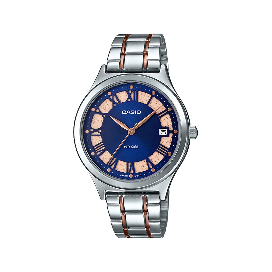Casio Analog Blue Dial Women's Watch-LTP-E141RG-2AVDF (A1594) (B07P582HH1) Amazon Price History, Amazon Price Tracker