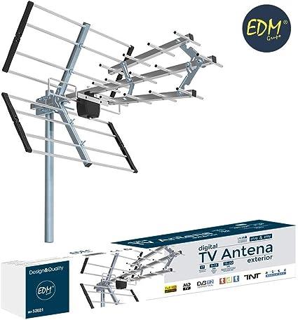 EDM 52021 Antena TV UHF 470-694 MHz: Amazon.es: Electrónica