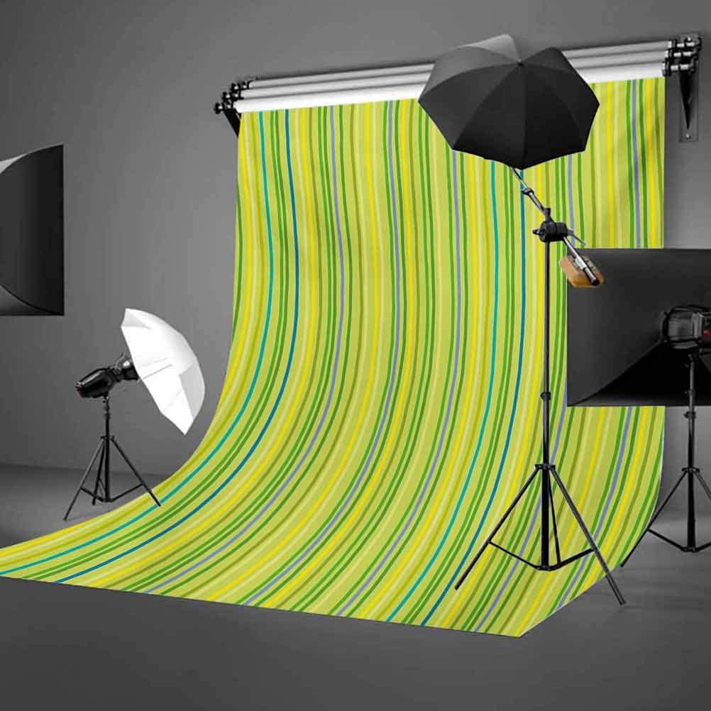 Lime Green 10x15 FT Backdrop Photographers,Pastel Toned Vertical Bands Striped Lines Geometric Figures Soft Print Background for Party Home Decor Outdoorsy Theme Vinyl Shoot Props Pale Green Yellow