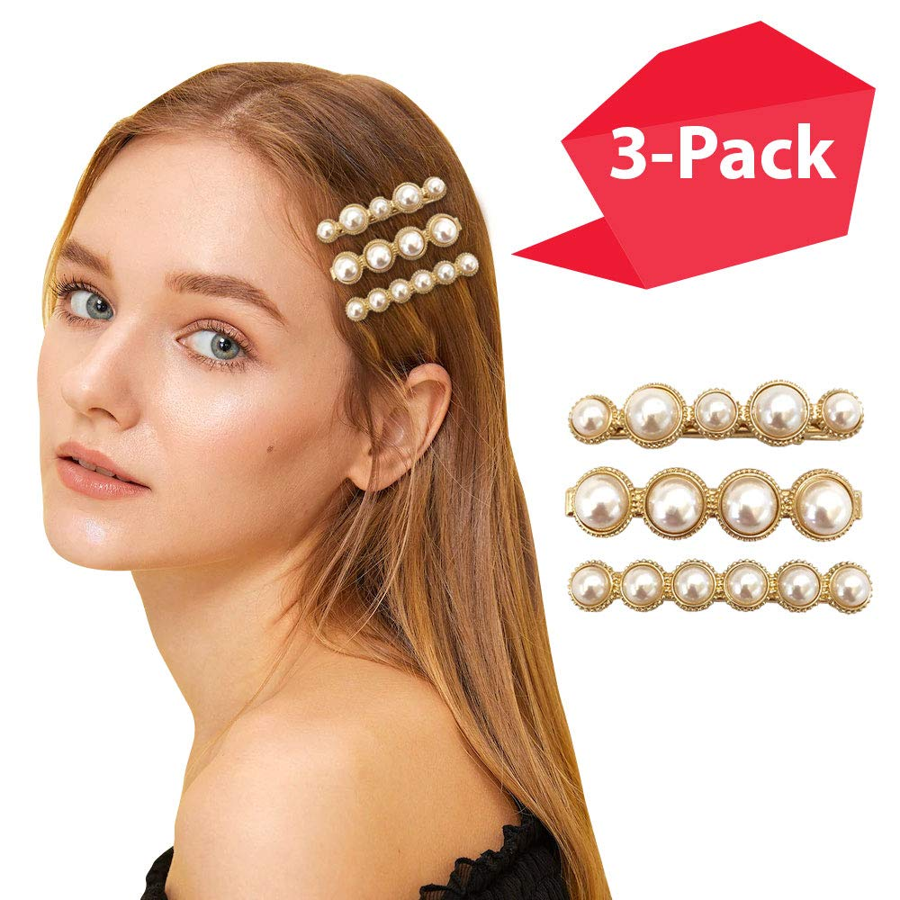Little Queen Korean rhinestone pearl star shaped fashion hair pin