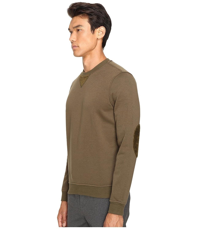 ATM Anthony Thomas Melillo Men's Crew Neck Sweatshirt w/ Elbow Patches at  Amazon Men's Clothing store: