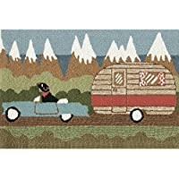 Liora Manne FT023A51406 Whimsy Summer Trip Rug, Indoor/Outdoor, Scatter Size, Green