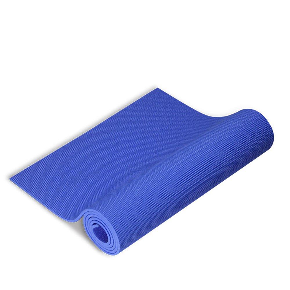 LJJ Yogamatte 8 MM Multifunktionale PVC Rutschfeste Fitness Matte Dance Pad (Blau183  61 cm)
