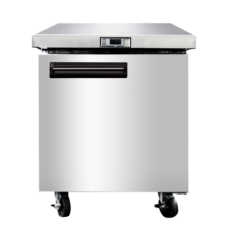 Commercial Refrigerator 7.15 Cu.Ft. Undercounter Fridge - KITMA Single Door Horizontal Refrigerator - Stainless Steel Refrigeration Equipment for Restaurant, 33℉ - 45℉