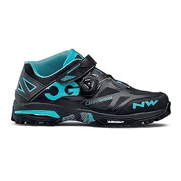 Northwave Enduro Mid MTB zapatillas de ciclismo negro/aqua, Tamaño:gr. 42