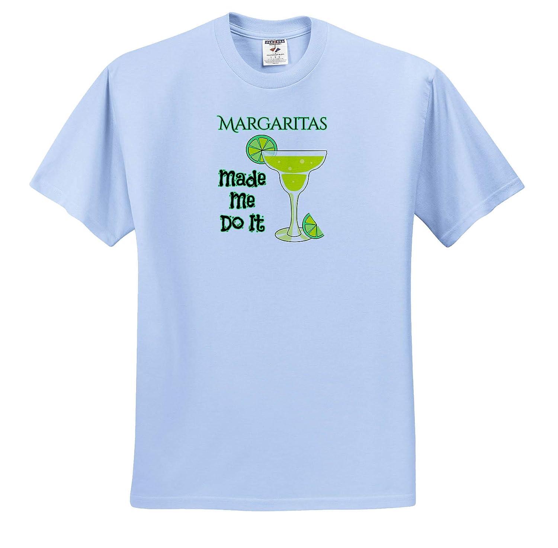 Funny Drinking Design - T-Shirts 3dRose Macdonald Creative Studios Alcohol Margaritas Made Me Do It