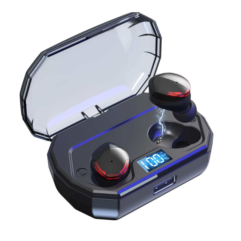 Bravoly Auricolari Bluetooth 5.0 Cuffie Bluetooth 100 Ore di Riproduzione Leggeri Mini Stereo Sport Cuffie Wireless Senza Fili