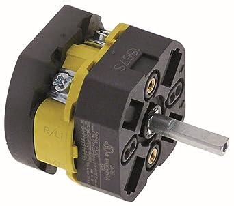 bezzera Interruptor giratorio PX20 2 pines 690 V 20 A para ...