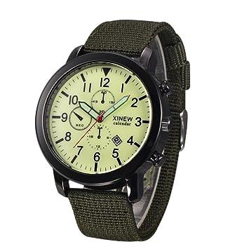 Xinantime Reloje Hombre,Xinan Reloj Pulsera de Deporte Negro Militar Luminoso (Verde): Amazon.es: Deportes y aire libre