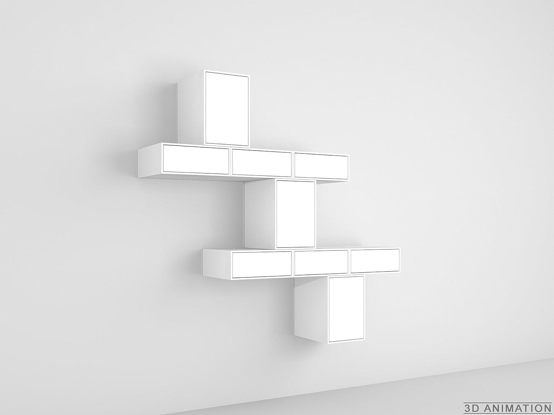 Design Regal Geschlossenes Wandregal Mit Türen Und Schubladen