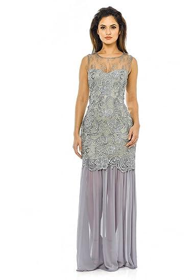 10a23ebfc1 AX Paris Women s Crochet Chiffon Maxi Dress at Amazon Women s Clothing store