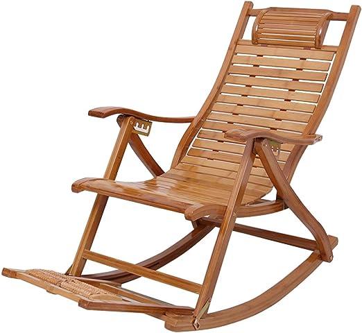 Sillas de jardín Silla reclinable Plegable al Aire Libre Tumbona, Silla Mecedora Sillón para Sala de Estar Balcón Patio Jardín Exterior: Amazon.es: Hogar