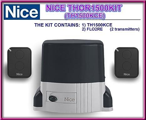 Color THOR 1500 KIT (th1500kce) irreversibles electromecánico gear motor, juego de accesorios para