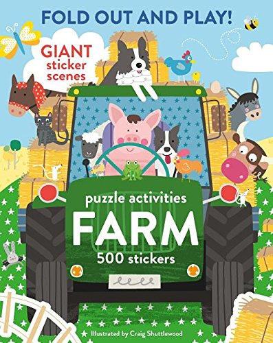 Fold Out and Play Farm: Giant Sticker Scenes, Puzzle Activities, 500 Stickers