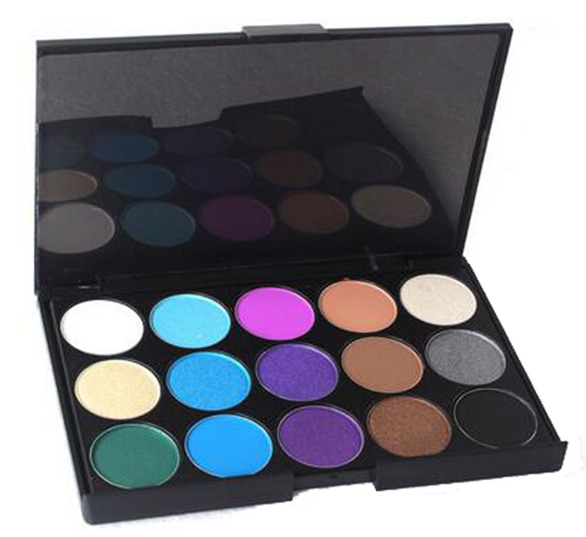 LUFA 15 Colores Sombreador de ojos Palette Efecto ocular mate Smokey Neutral Duradera Maquillaje Desnudo / Blanco Destaque / Marrón / Negro / Chocolate / Púrpura / Azul / Verde / Gris Plata # 3