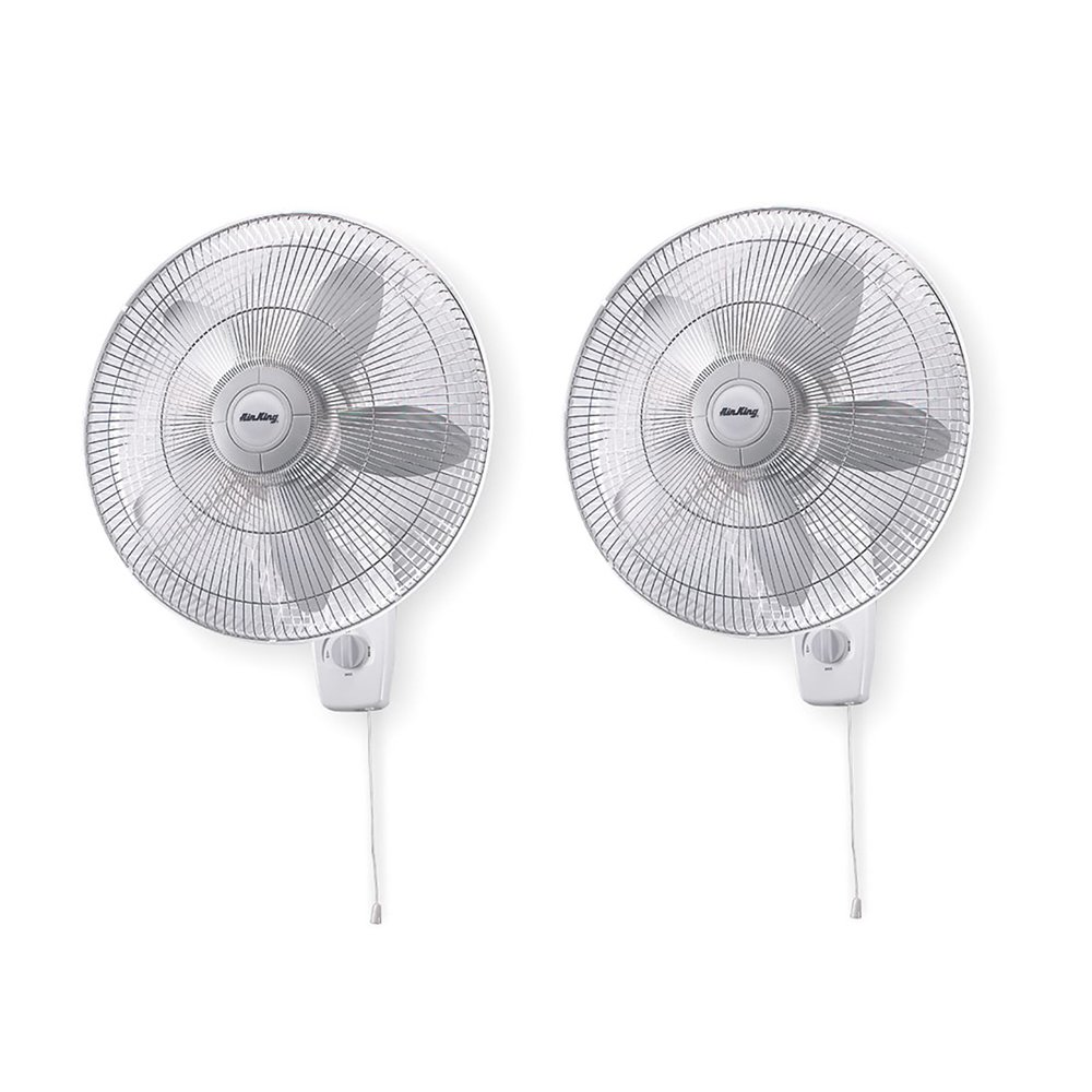 Air King 18'' Blade 3-Speed 1/20 HP Quiet Oscillating Wall-Mount Fan (2 Pack)