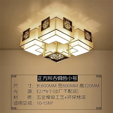 Gunxifacai Salón chino redonda luz de techo dormitorio ...