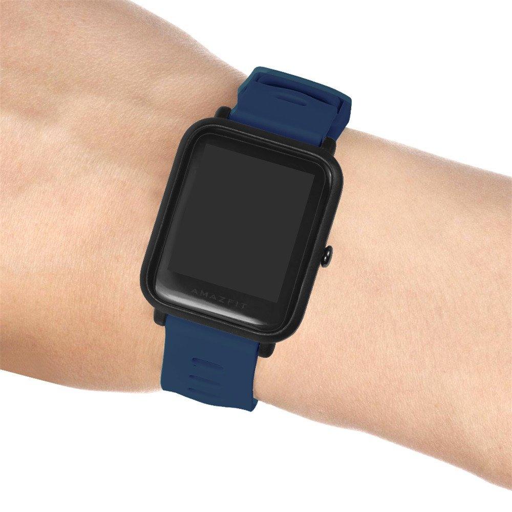 JiaMeng para Huami Amazfit Bip Youth Watch,Banda de Reloj de Silicona Suave reemplazo Absolute Correa de Pulsera de Repuesto de Silicon Sport(Azul): ...
