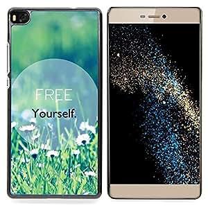 """For Huawei Ascend P8 (Not for P8 Lite) Case , Libérate de texto motivación verano"""" - Diseño Patrón Teléfono Caso Cubierta Case Bumper Duro Protección Case Cover Funda"""