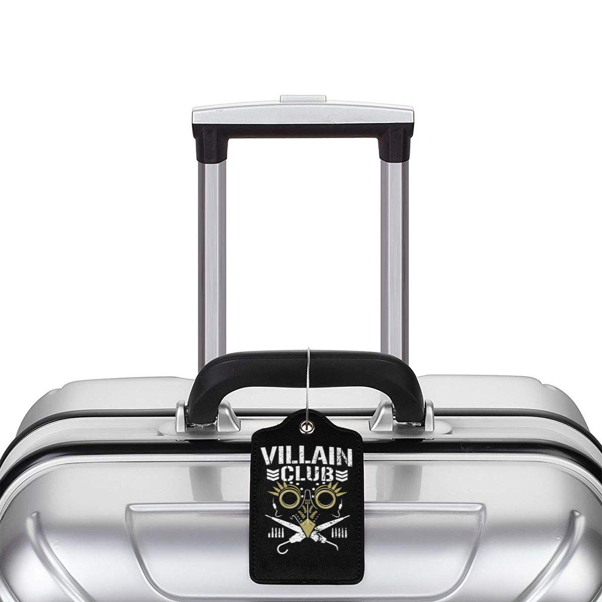 Villain Club Leather Luggage Tag Travel ID Label For Baggage Suitcase