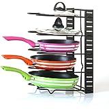 Pan Organizer Pot Rack Lid Holder Cookware Holders Adjustable Heavy Duty Cabinet Pantry Kitchenware for Kitchen Bronze