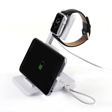 Atril Itorrent para reloj de Apple con base que funciona como cargador para el reloj de Apple, el iPhone. Color negro