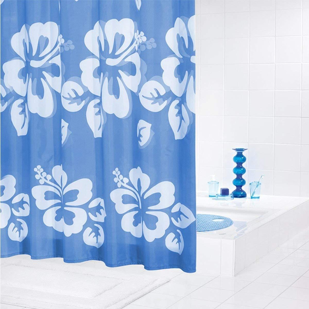 CURTAIN HOME 防シワティール厚肥厚不透明防水カビポリエステルバスルームのシャワーカーテン配管浴室付属品を増やす (Color : A) B07PWM29JC A
