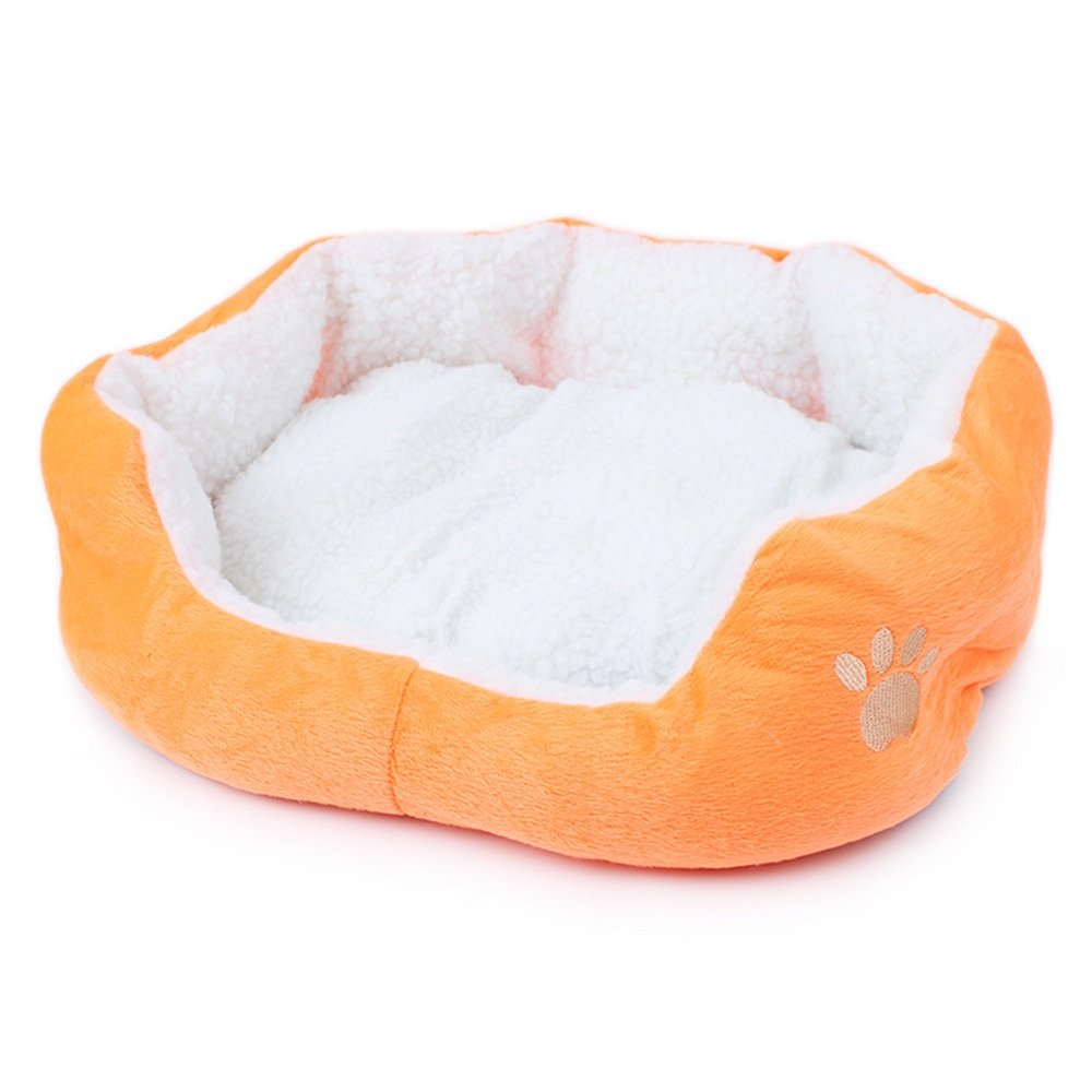 orange Dog Bed, Foldable and Comfortable Memory Foam Bed, Perfect for Kittens Or Puppies to Help Improve Sleep (color   orange)