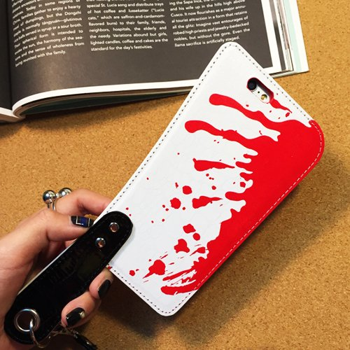 [iPhone6 Case iPhone6s Back Cover Bloody Knife with Handle Glossy Leather Material Fun Cool (For iPhone] (Easy Scary Costumes)