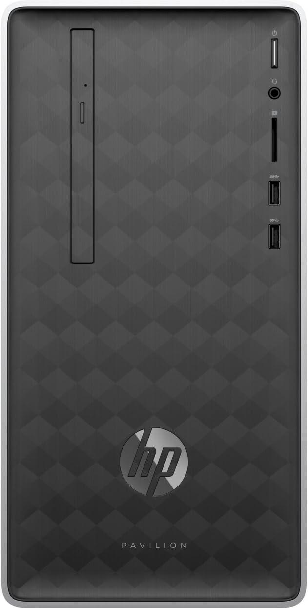 HP Pavilion 590-a0202ns 2GHz J4005 Mini Tower Intel® Celeron® Gris, Plata PC - Ordenador de sobremesa (2,00 GHz, Intel® Celeron®, 4 GB, 1000 GB, DVD Super Multi, FreeDOS)