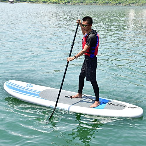 MD Group SUP Board Stand Up Paddle 10-Feet Inflatable EVA Adjustable & Lightweight by MD Group