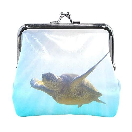 Amazon.com: Monedero verde de tortuga de mar para mujer ...