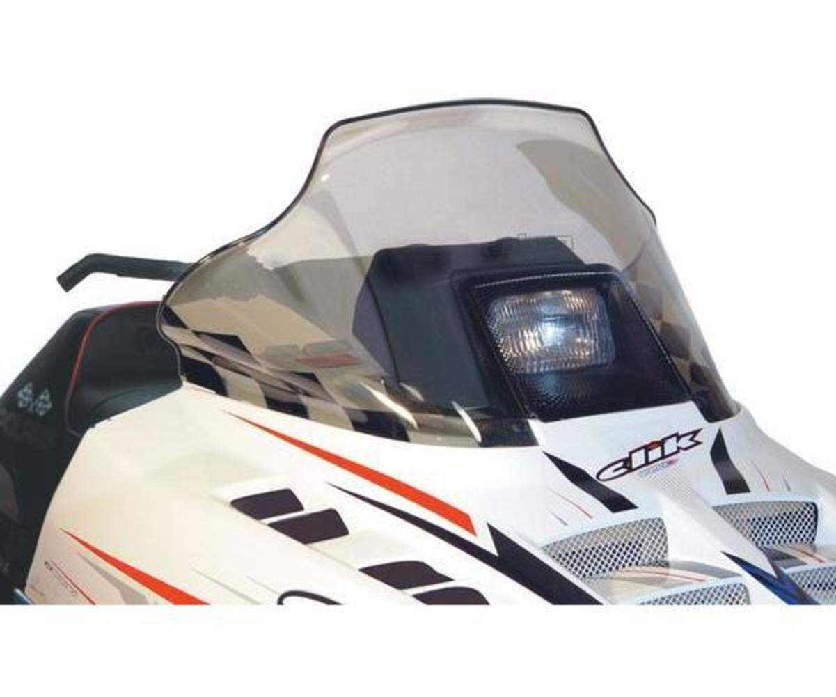 PowerMadd 11120 Cobra Windshield for Polaris Indy Black with white checkers Low height