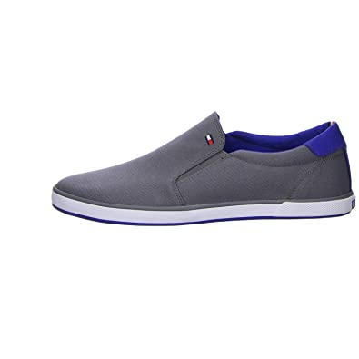 Tommy Hilfiger Denim - Mocasines de Tela Para Hombre, Color Gris, Talla 47 EU: Amazon.es: Zapatos y complementos