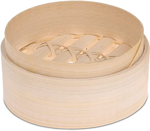 JB Prince 4 inch Bamboo Steamers 2 Pack