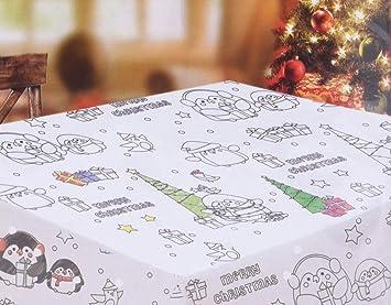 Mantel para Colorear . Mantel de Navidad Muy Divertido para niños ...