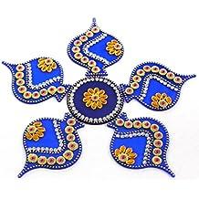 AMBA HANDICRAFT Rangoli / home decor/ Diwali / gift for home / interior handcrafted / floor stickers / wall stickers / wall decoration / Designer Stencil / new year gift / party.25 DESGIN (Design 44)