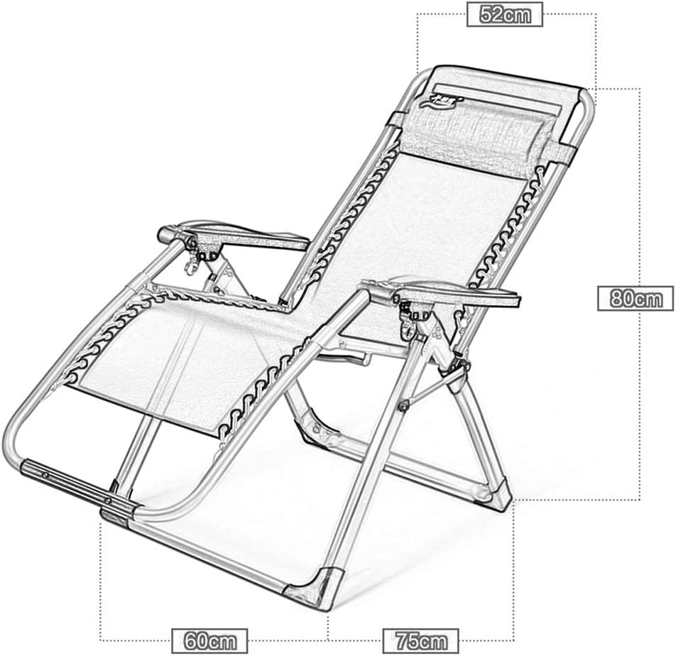 XITER Chair Zero Gravity Lounge Chair Patio Recliners Patio Deck Chair Foldable Adjustable Reclining with Cup Holder and Headrest (color : Chair+cushion 1) Chair+cushion 1