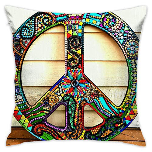Throw Pillow Cover, Peronalized Cotton Square Pillowcase Cover Decorative Sofa Cushion Cover for Home Office 18