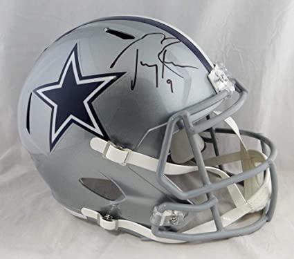 best service bebd2 6e1aa Amazon.com: Tony Romo Autographed Helmet - F S Speed Beckett ...
