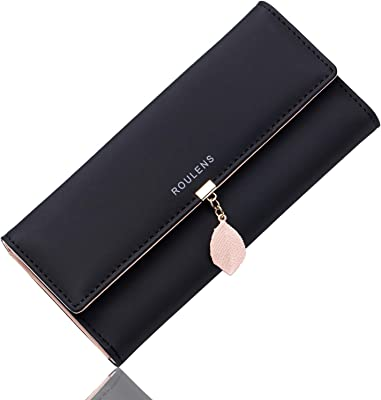 Roulens Wallet for Women RFID Blocking PU Leather
