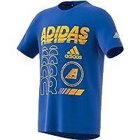 Adidas Kids T-Shirt, Blue/Active Gold, 116