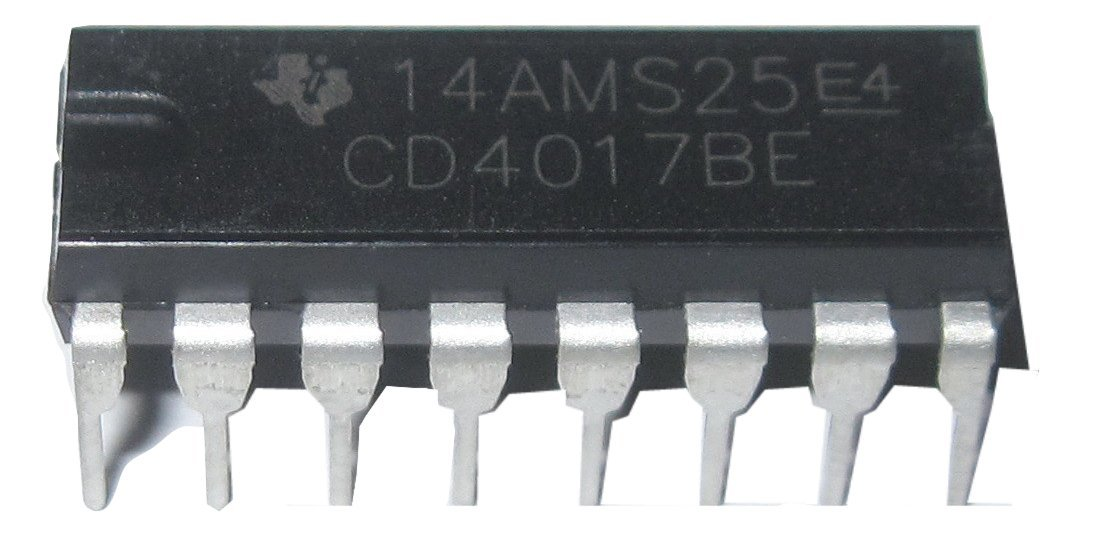 Cd4017be Texas Instruments CMOS Counter//Divider Dip 16 Cd4017 Be