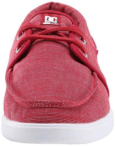 DC Shoes - Zapatillas de Lona para hombre Rojo - Red/White