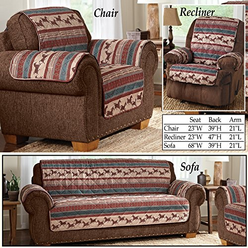 Quilted Western Mustang Furniture Cover Chair