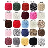 200g 25 Color Soft Cotton Hand Knitting Yarn Smooth Wool Yarn Ball Wool Scarf Baby Clothes