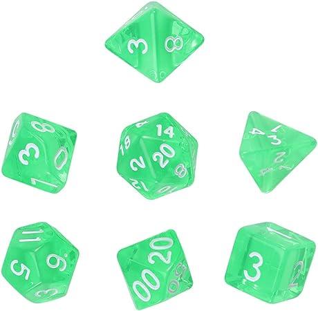 LIOOBO D20 - Cubo de Juegos de Mesa (poliedrres), Color Verde: Amazon.es: Hogar