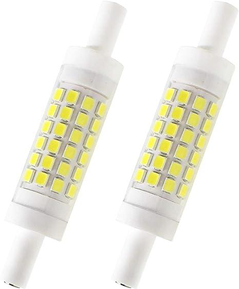 78Mm 10W R7S LED Bulbs 100W Halogen Equivalent 78Mm R7S LED J T-Ype T3 Dimmable Double Ended R7S LED J78 Flood Light Landscape Lights, 4 Pack